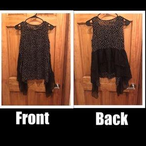 Lighting Bolt Dressy No Selves Blouse Top- XS/S